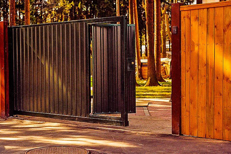 Ворота откатные своими руками для дома 97