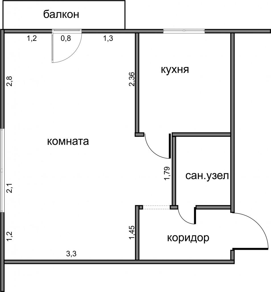 Схема двухкомнатной квартиры хрущевки фото 979