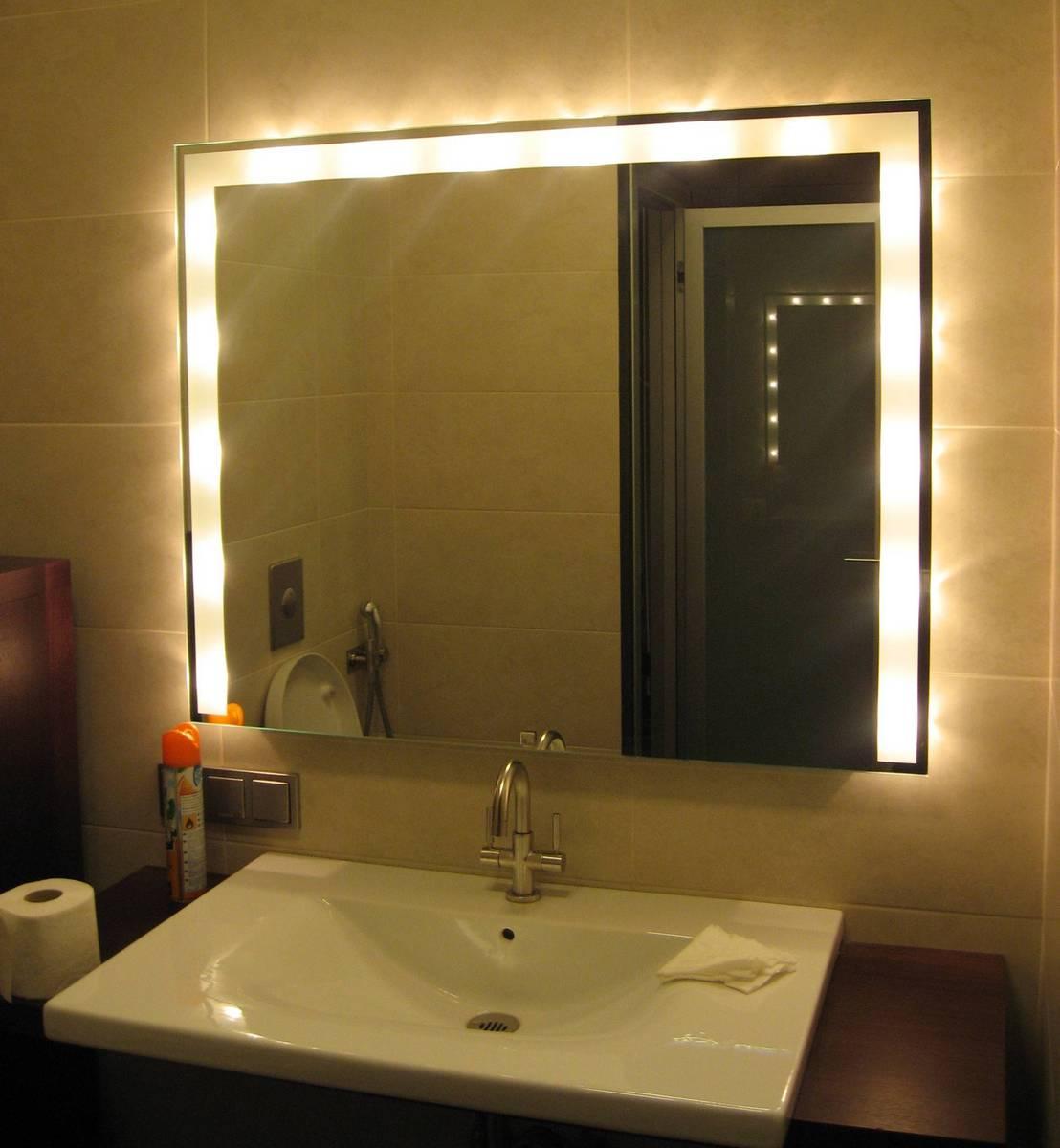 Как сделать светодиодную подсветку своими руками на зеркало фото 247