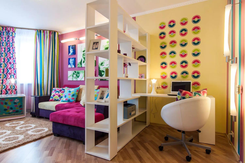Разделение комнаты на две зоны : простые идеи для уютного дома (25 фото)