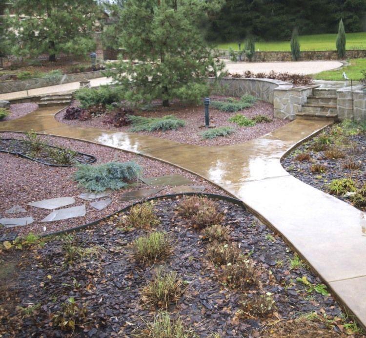 Дорожки для сада своими руками из бетона 301