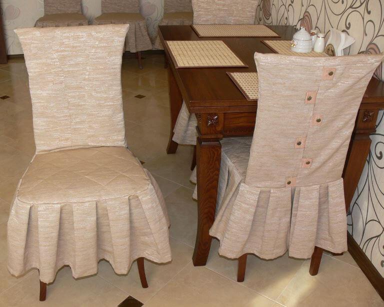 Чехлы на стулья Как сшить чехлы своими руками