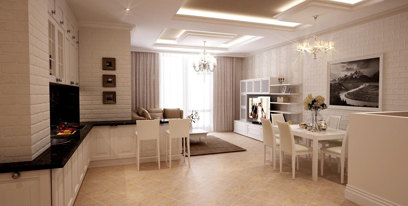 f348580ba2d15 Дизайн квартиры в светлых тонах - современный стиль (92 фото ...