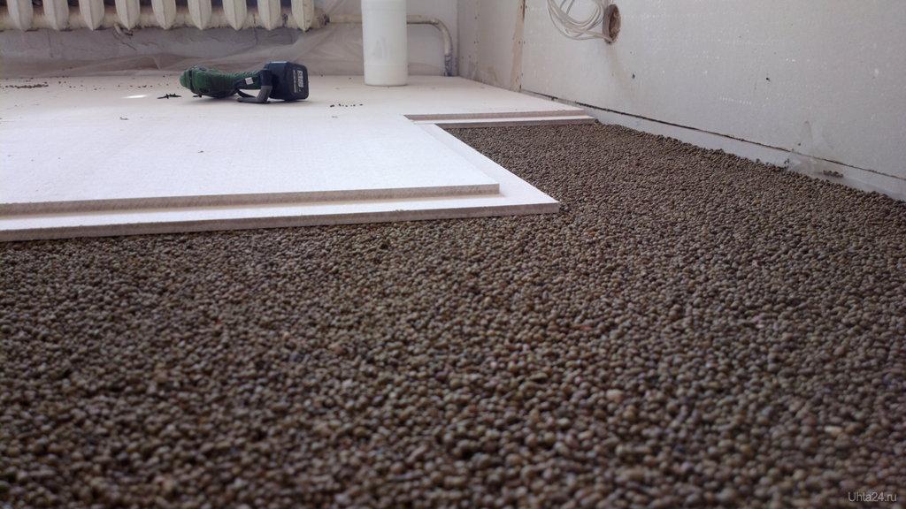 Укладка плитки на сухой пол