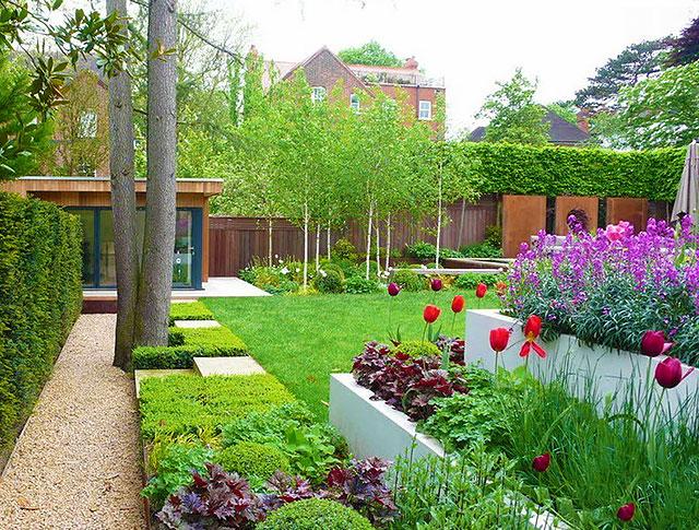 Идеи ландшафтный дизайн двора частного дома своими руками фото