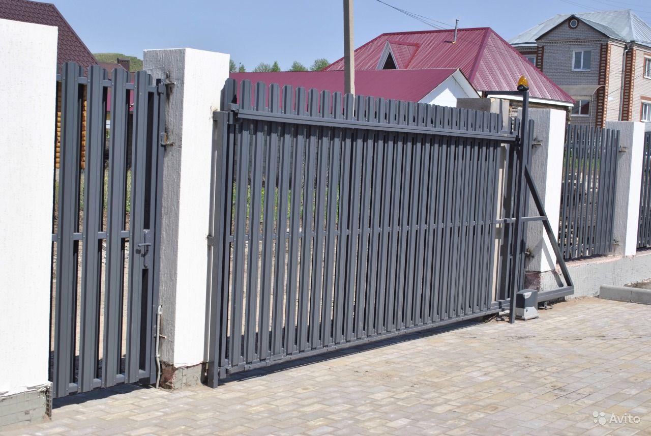 Фото выдвижных ворот своими руками