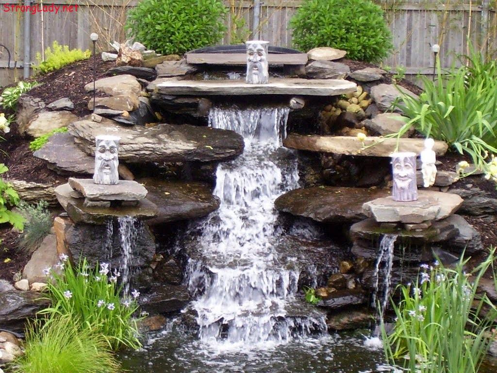 Садовые фонтаны и водопады своими руками 2