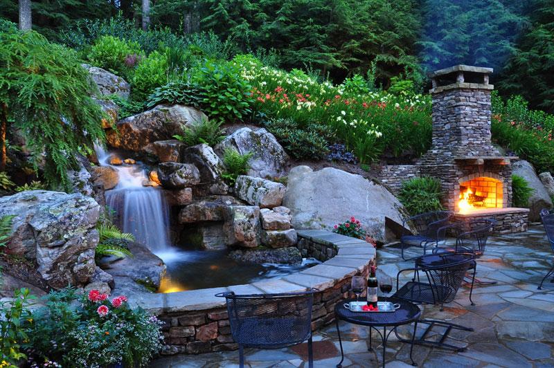 рабочий водопад в саду своими руками фото можете смело