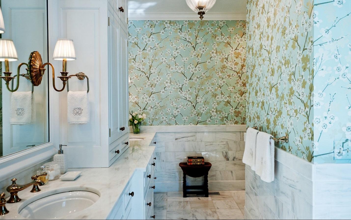 Обои ванную комнату купить недорогие смеситель для ванны в нижнем новгороде