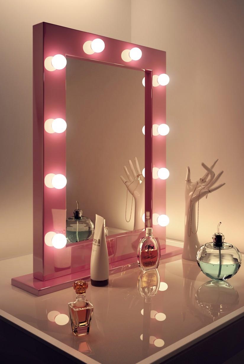 зеркало  с лампочками купить
