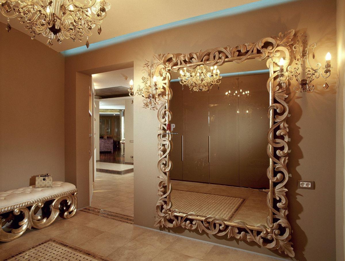 Оригинальное оформление зеркал в интерьере