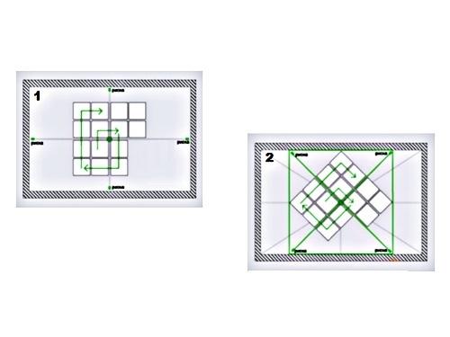 Наклейка потолочной плитки своими руками по диагонали 66