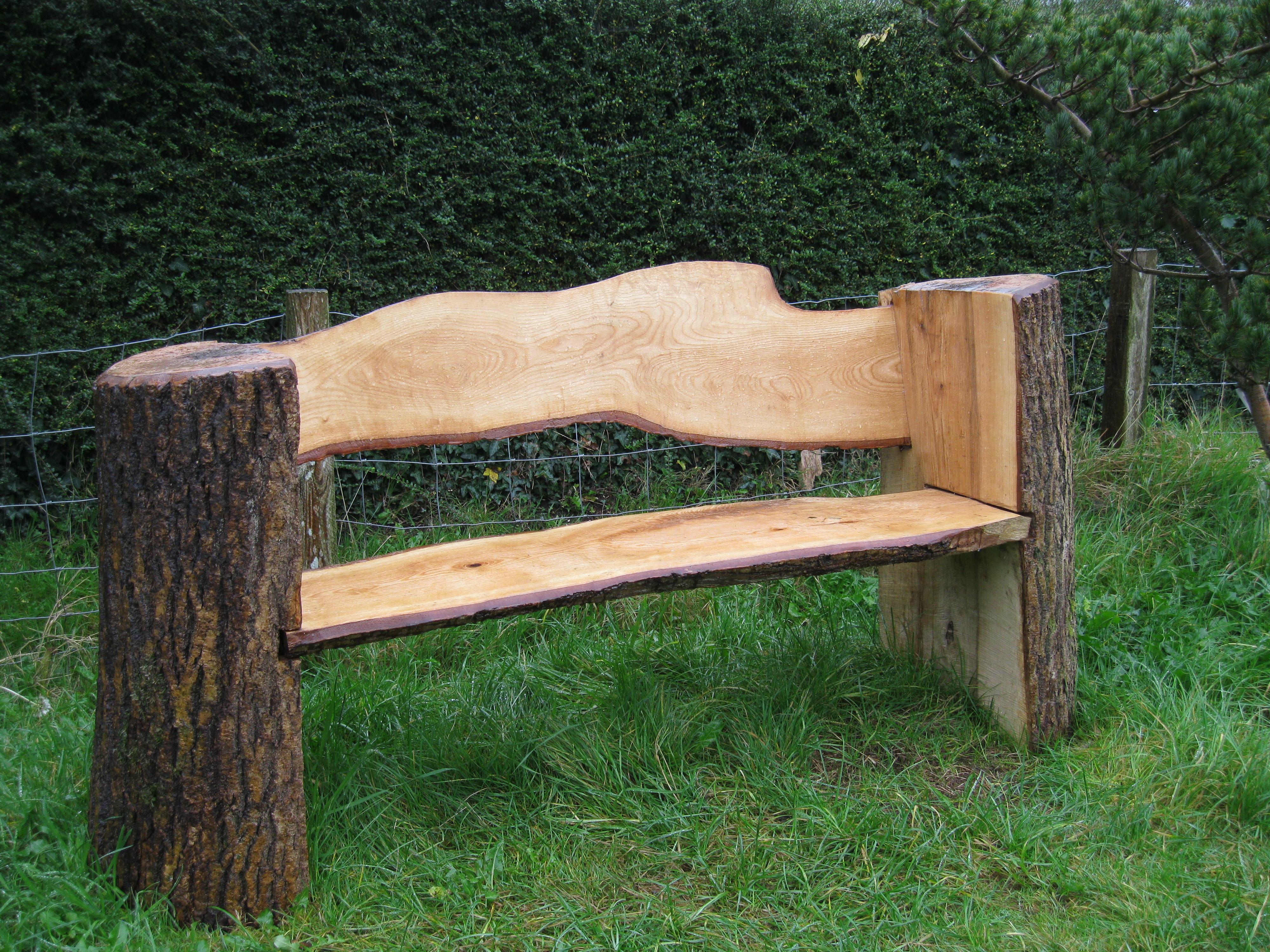 Скамейка из дерева своими руками для приусадебного участка 76
