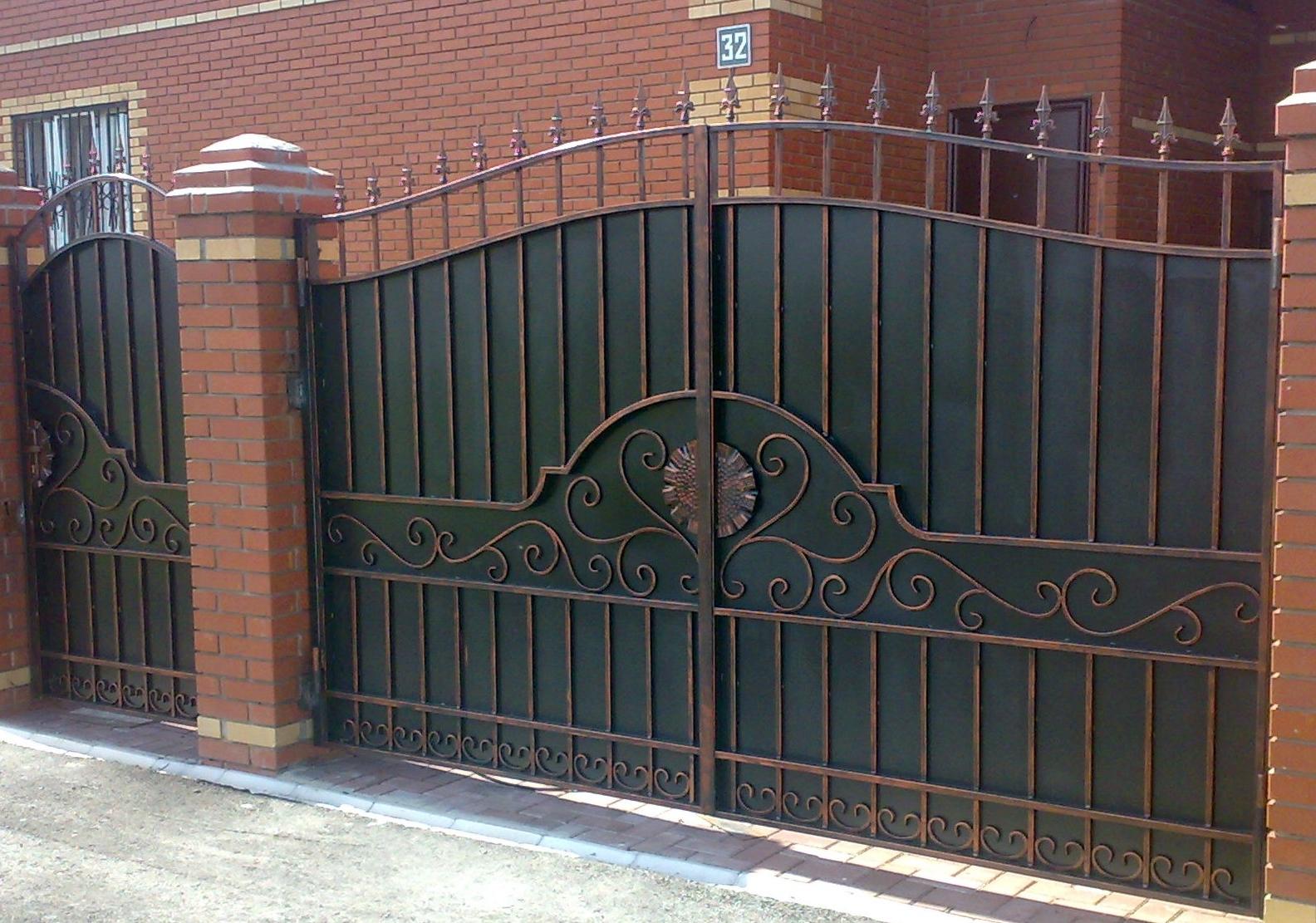 Дизайн ворот частного дома своими руками фото 508