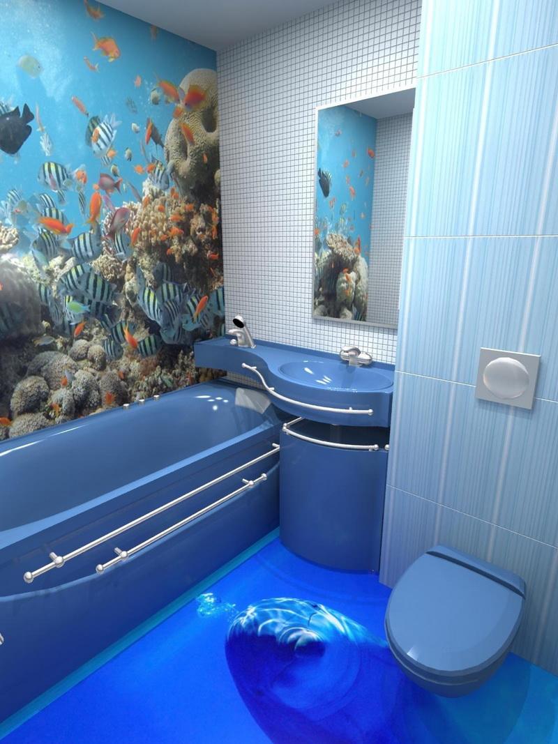 Ремонт ванной комнаты пол