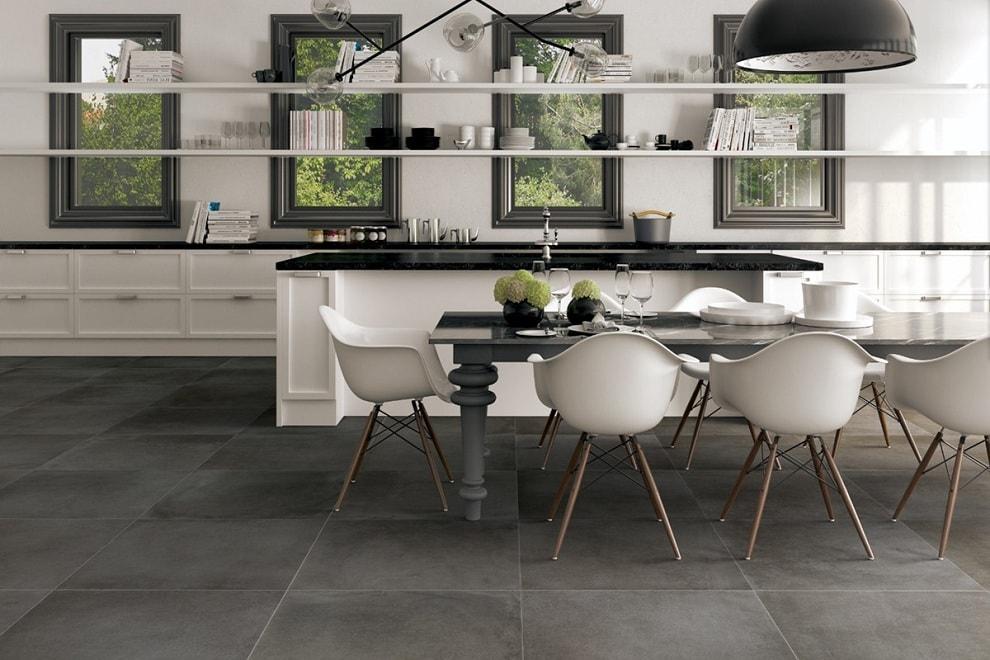 Напольная плитка больших размеров: красивые варианты в интерьере