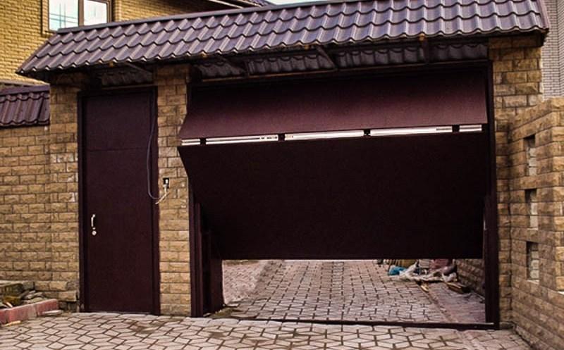 Подъемно-поворотные ворота своими руками  57 фото самодельные подъемники чертежи и расчеты схем изготовления