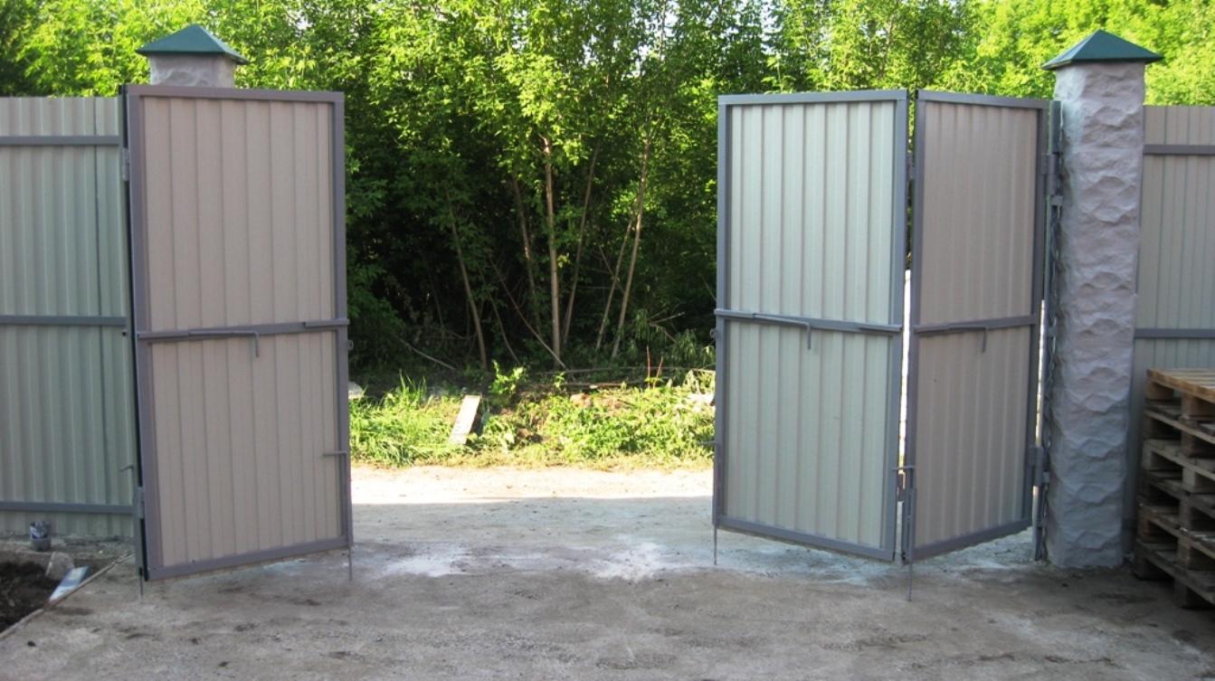 Складные автоматические ворота