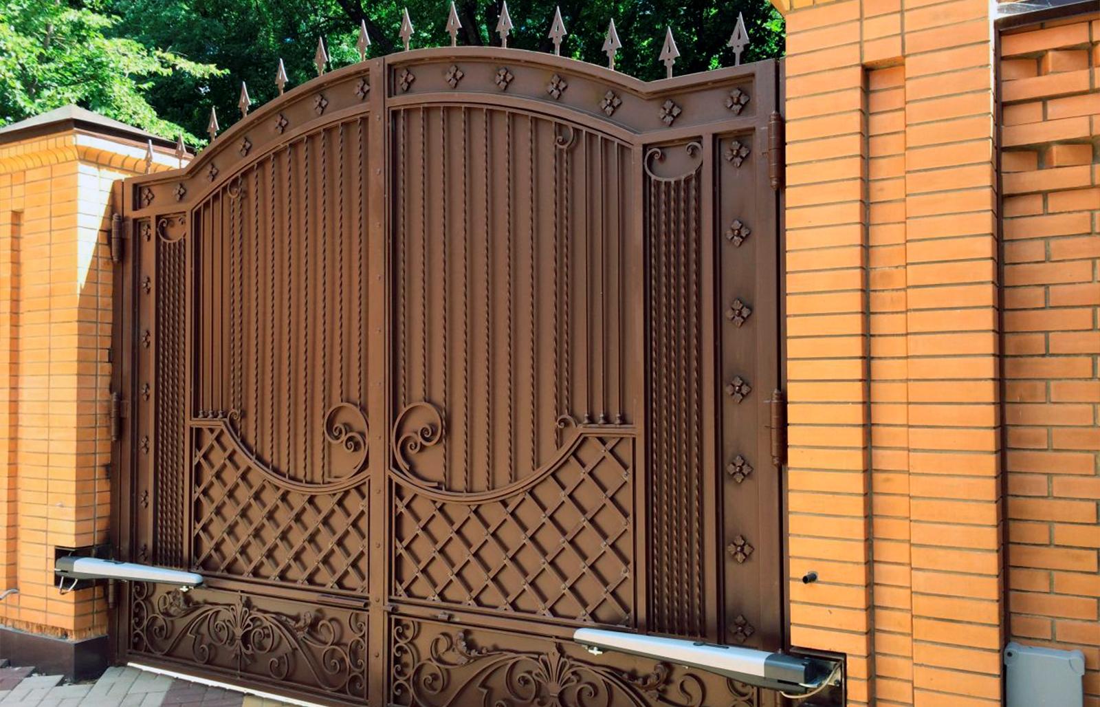 Ворота для частного дома своими руками фото