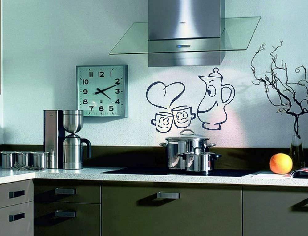 Трафареты для стен на кухне своими руками 850
