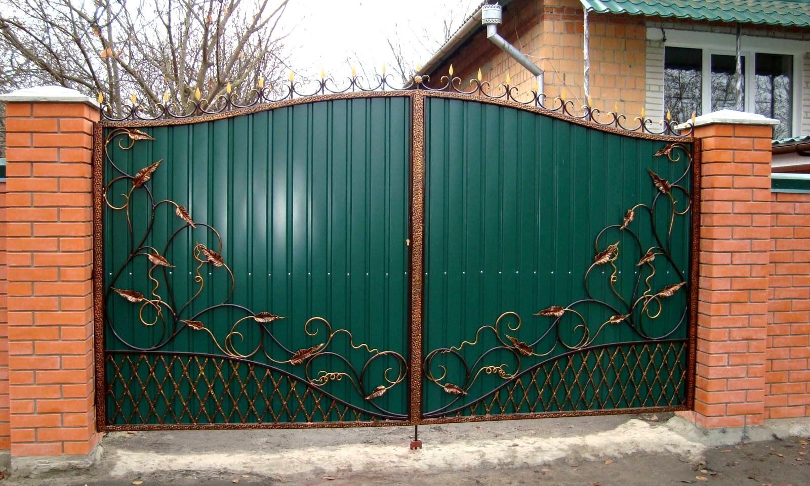 Ворота и калитки из металлопрофиля своими руками фото
