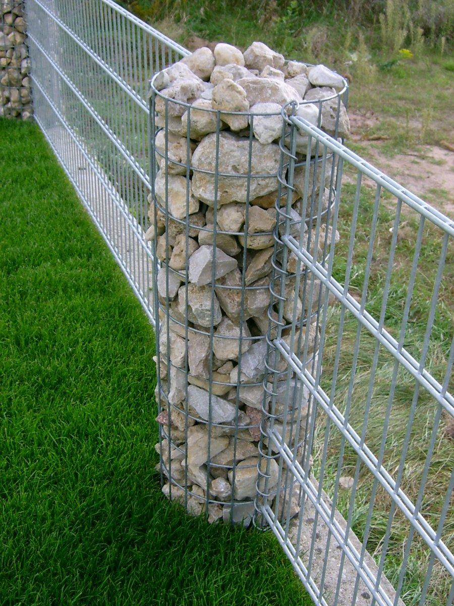 Ограждения из сетки и камней своими руками