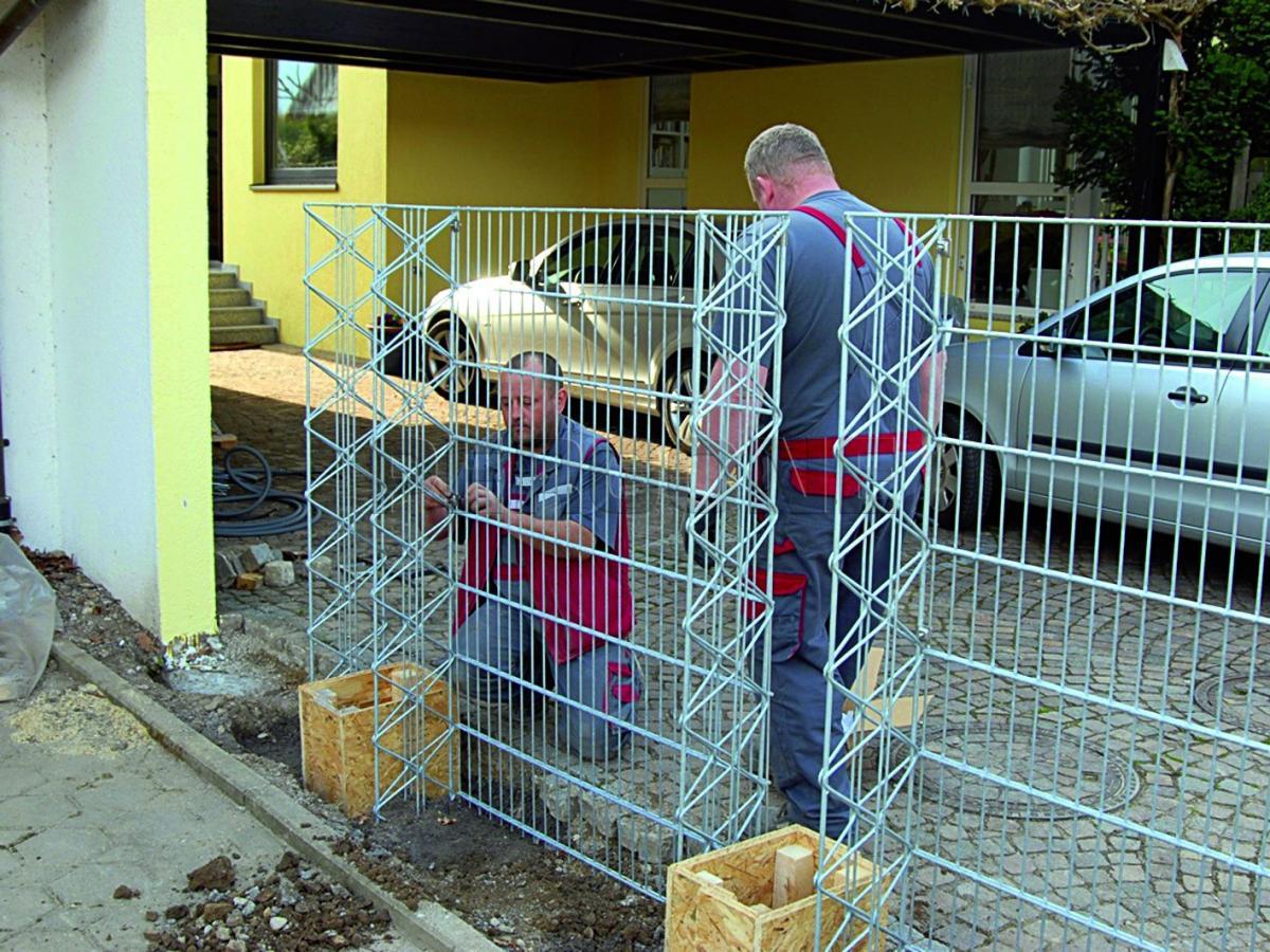 Забор из камня в сетке своими руками фото 974