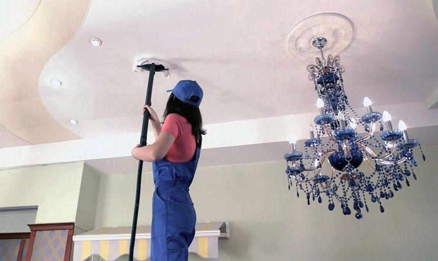 Как отмыть потолок в ванной