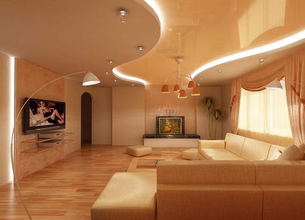 Двухуровневые натяжные потолки с подсветкой 56 фото двухуровневые потолочные покрытия из гипсокартона со светодиодным освещением
