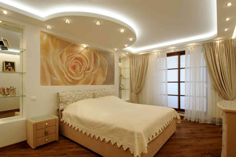 фото для потолков из гипсокартона для спальни