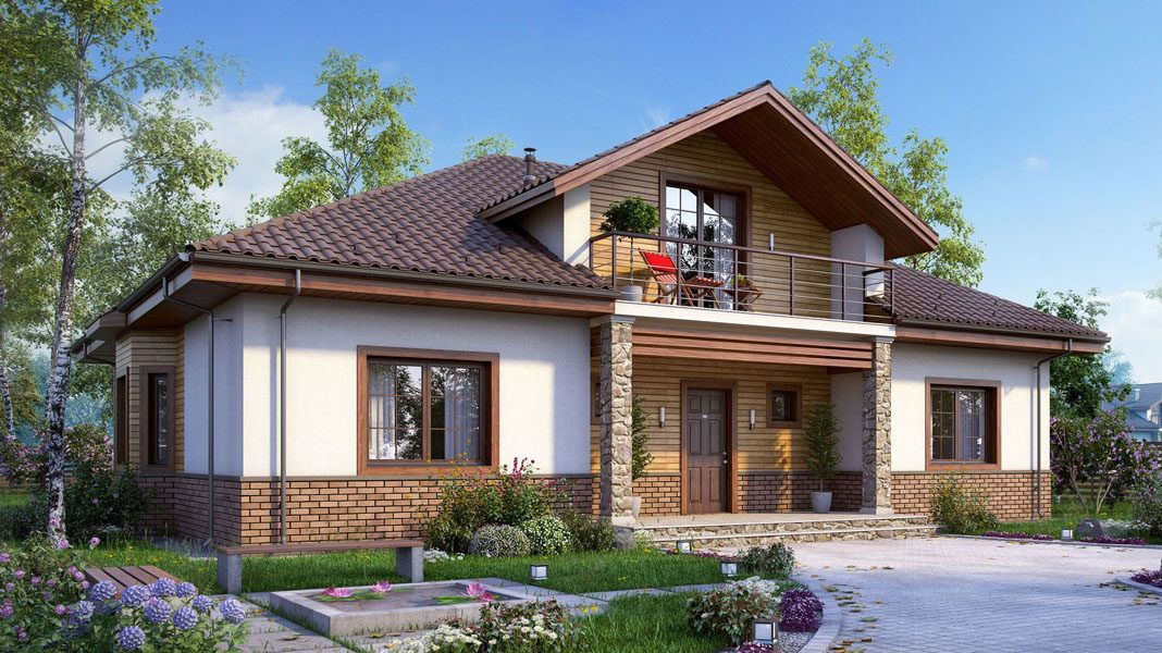 Какая крыша лучше для дома с мансардой