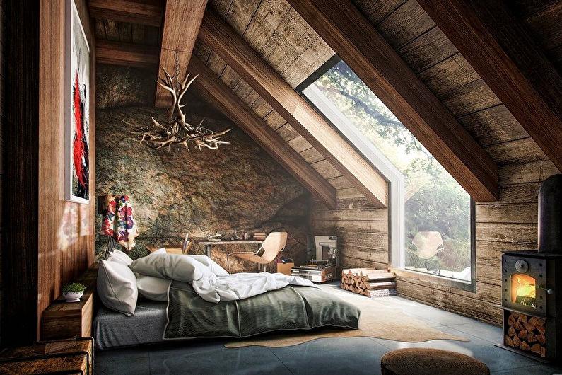 дизайн комнаты мансардного этажа 2