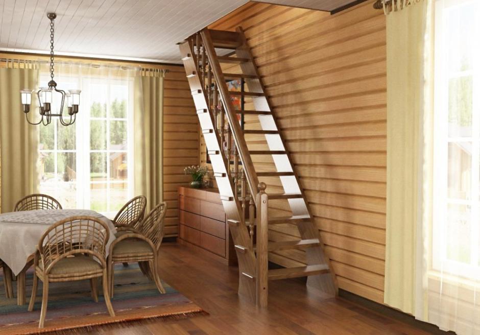 Виды лестниц для частного дома картинки