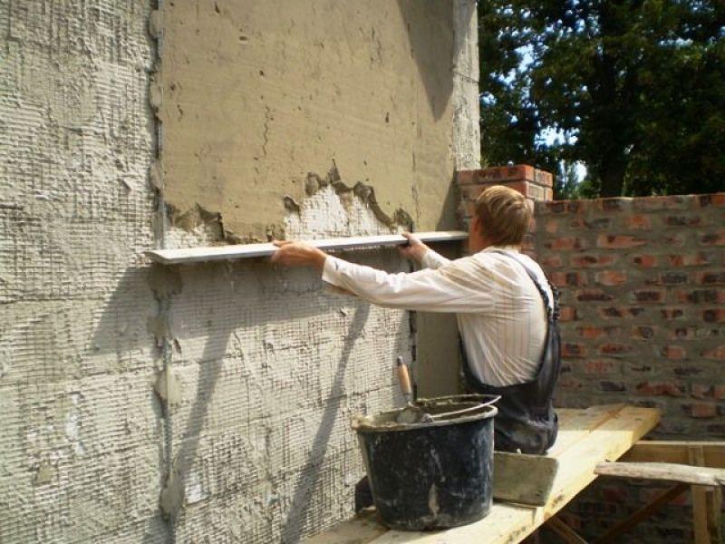 Штукатурка фасада цементным раствором дорожно бетонные смеси