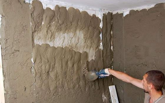 Цементный раствор штукатурки за работу дешевый дом из керамзитобетона