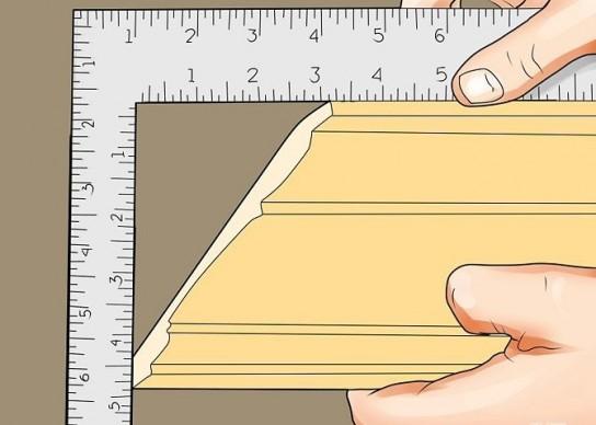 Как сделать угол на потолочном плинтусе 45 310
