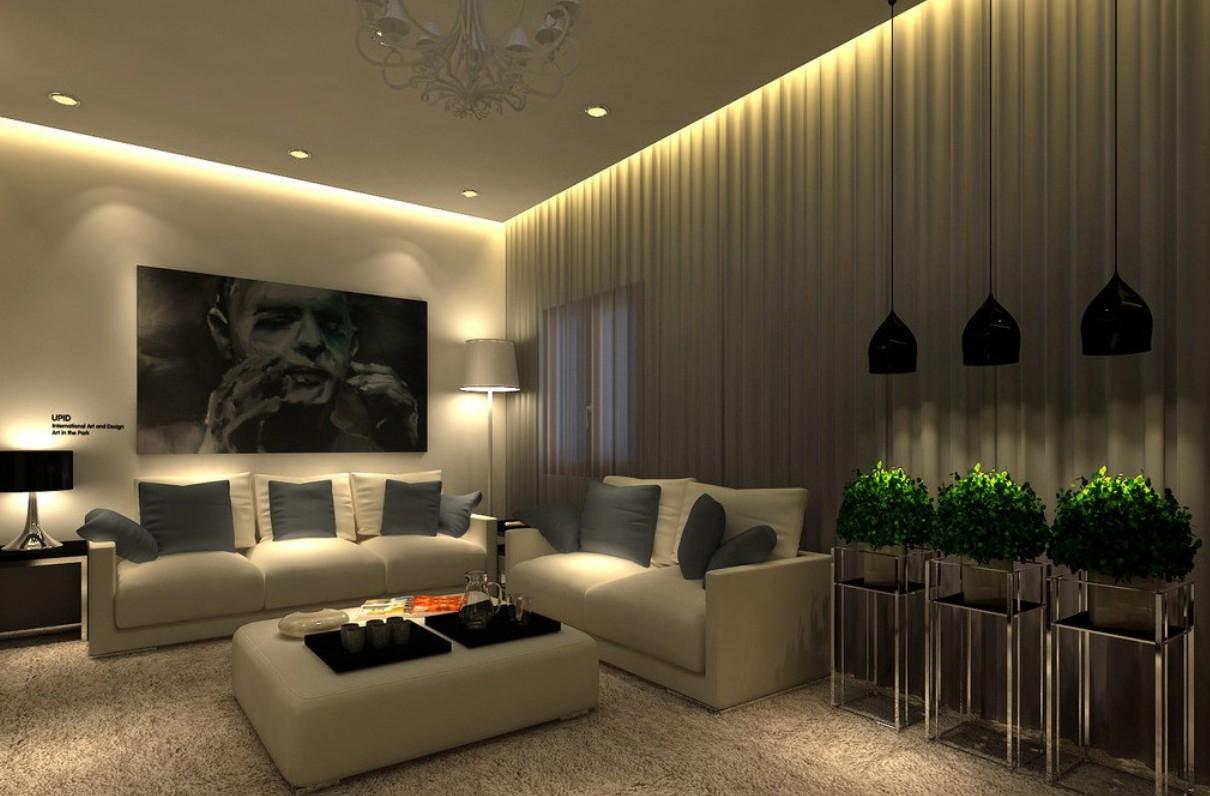 Гипсокартонный потолок с подсветкой Decor 4 House 977