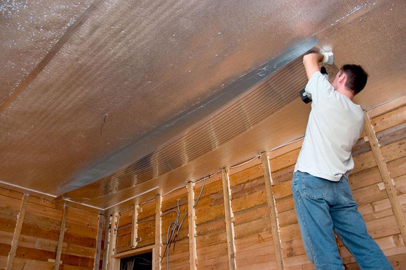 Как сделать потолок тёплым
