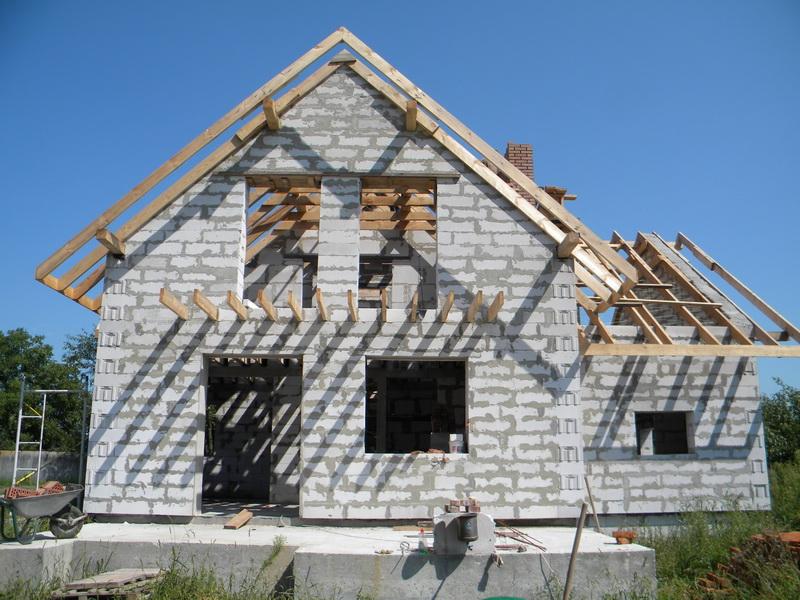 Одноэтажный дом из газосиликатных блоков своими руками 47