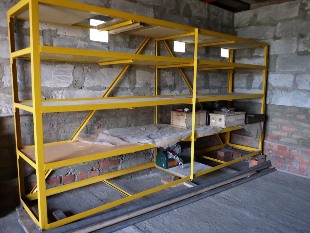 Изготовление стеллажа в гараж своими руками 91