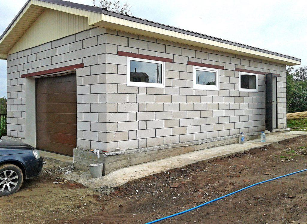 Постройка гаража из блоков своими руками купить гараж ракушку в тверской области