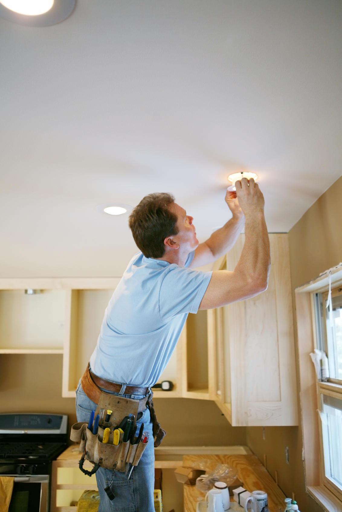 Установка точечных светильников в гипсокартон своими руками инструкция