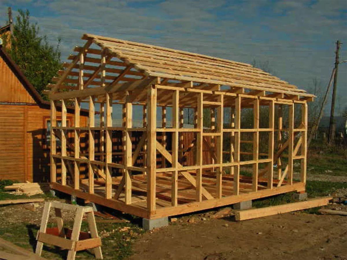 Каркасный гараж своими руками - инструкция по строительству и обустройству!