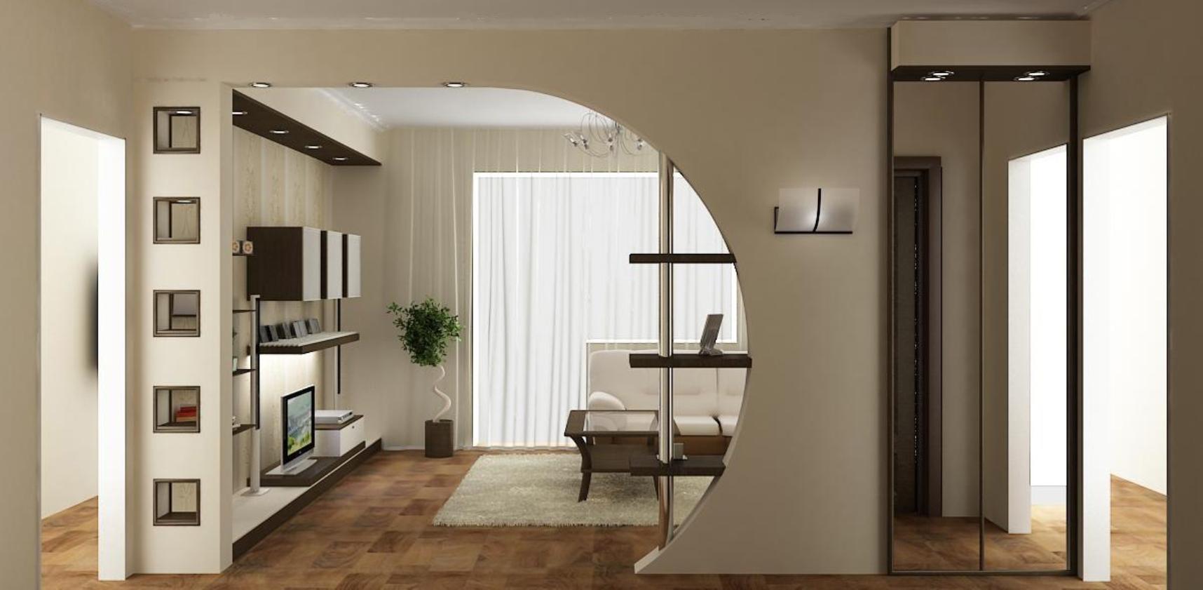 применение гипсокартона в дизайне интерьера квартиры