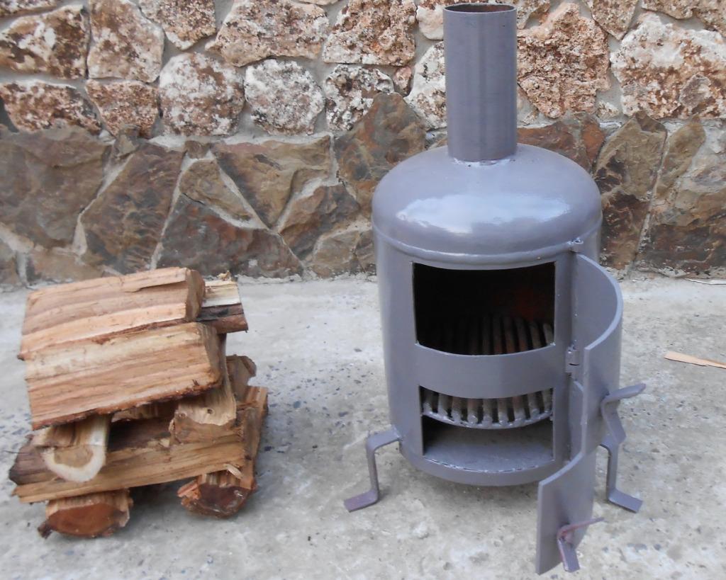 Простая печка для улицы своими руками фото 294