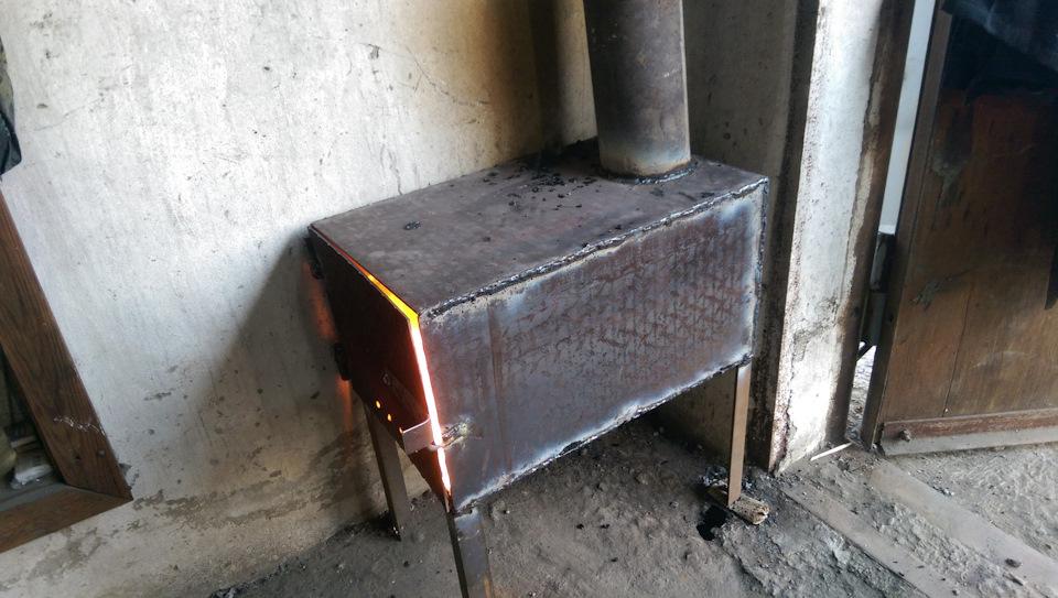 Металлическая печь в гараж своими руками гаражи металлические фото цены
