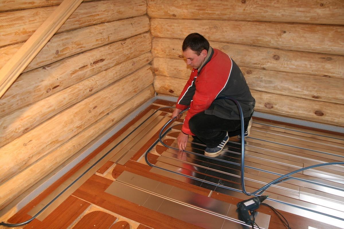 Как сделать тёплый пол на деревянном основании своими руками 47