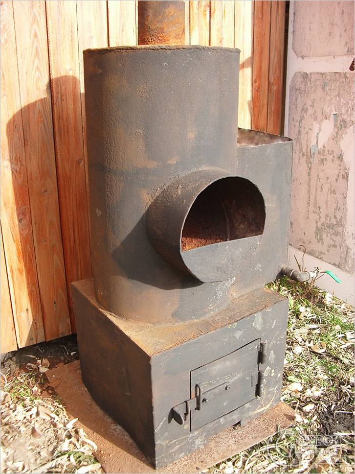 Печь для бани с горизонтальным дымоходом
