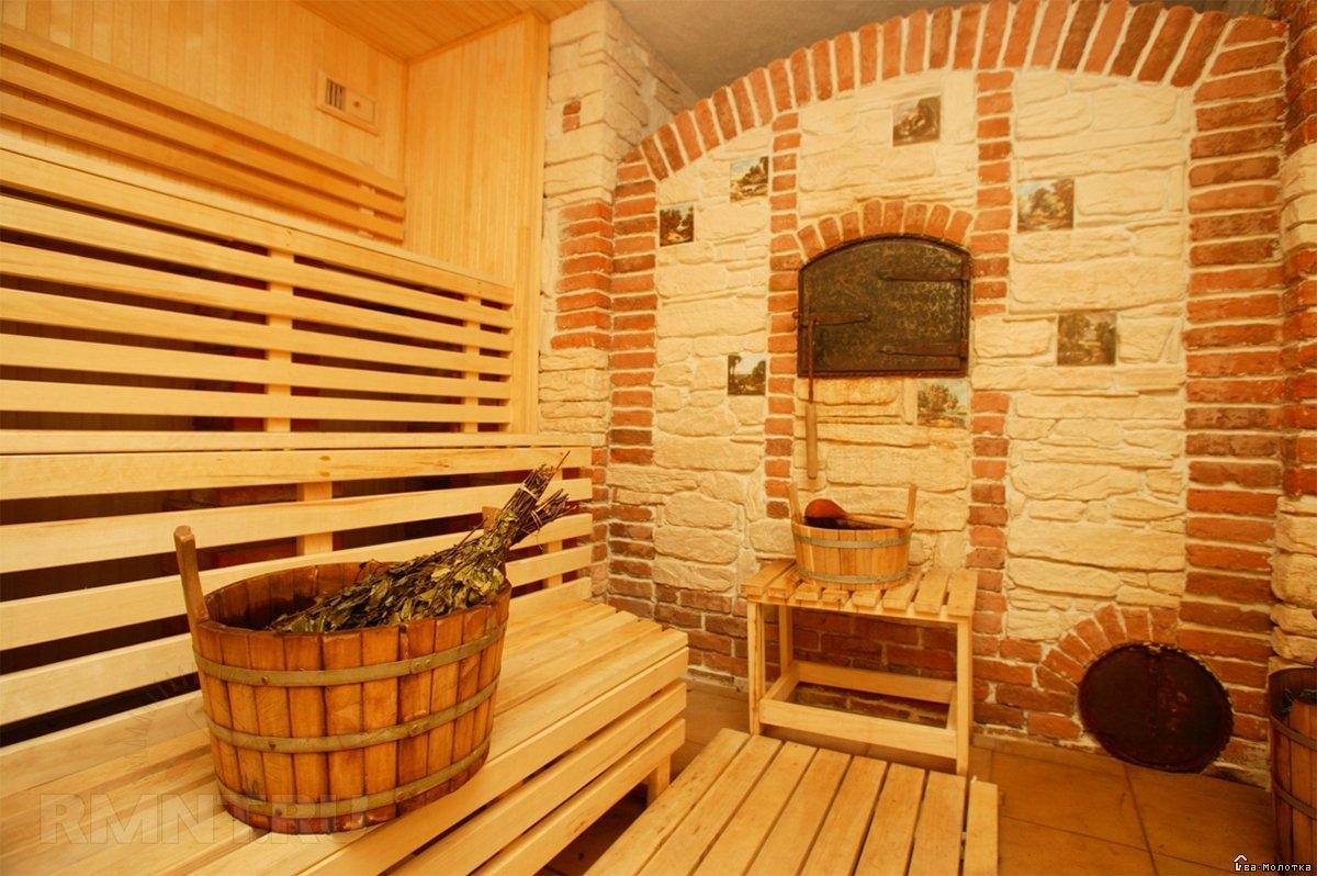 Кирпичная печь для бани с открытой каменкой