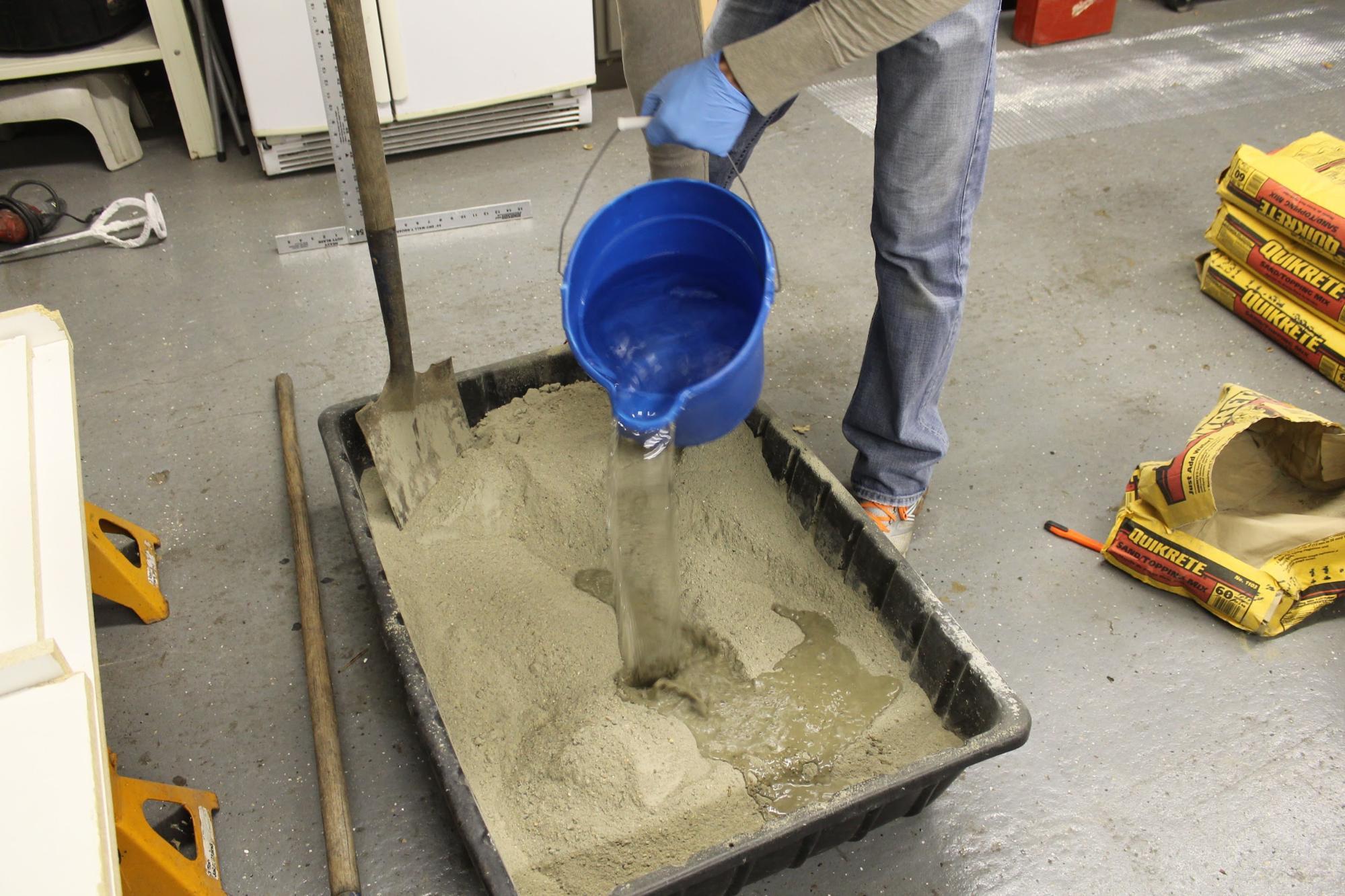 Как сделать цементную смесь фото 297